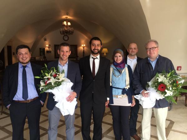 Mouaz & Razan border meeting